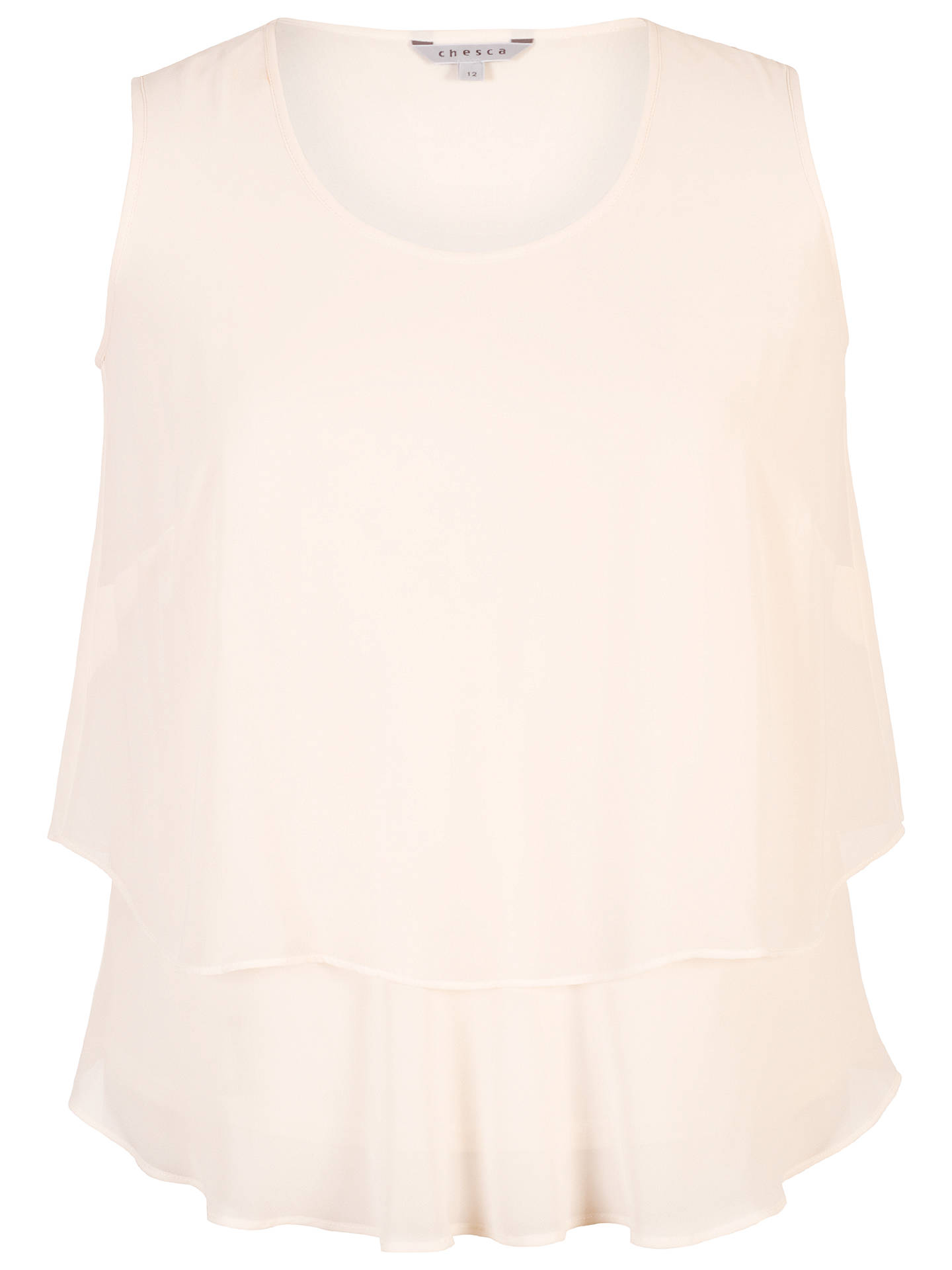 BuyChesca Wrap Back Layered Chiffon Top, Blonde, 12 Online at johnlewis.com