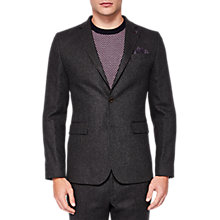 Buy Ted Baker Glen Plain Wool Blazer, Charcoal Online at johnlewis.com
