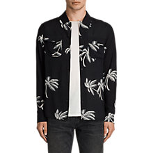 Buy AllSaints Offshore Long Sleeve Shirt, Black Online at johnlewis.com