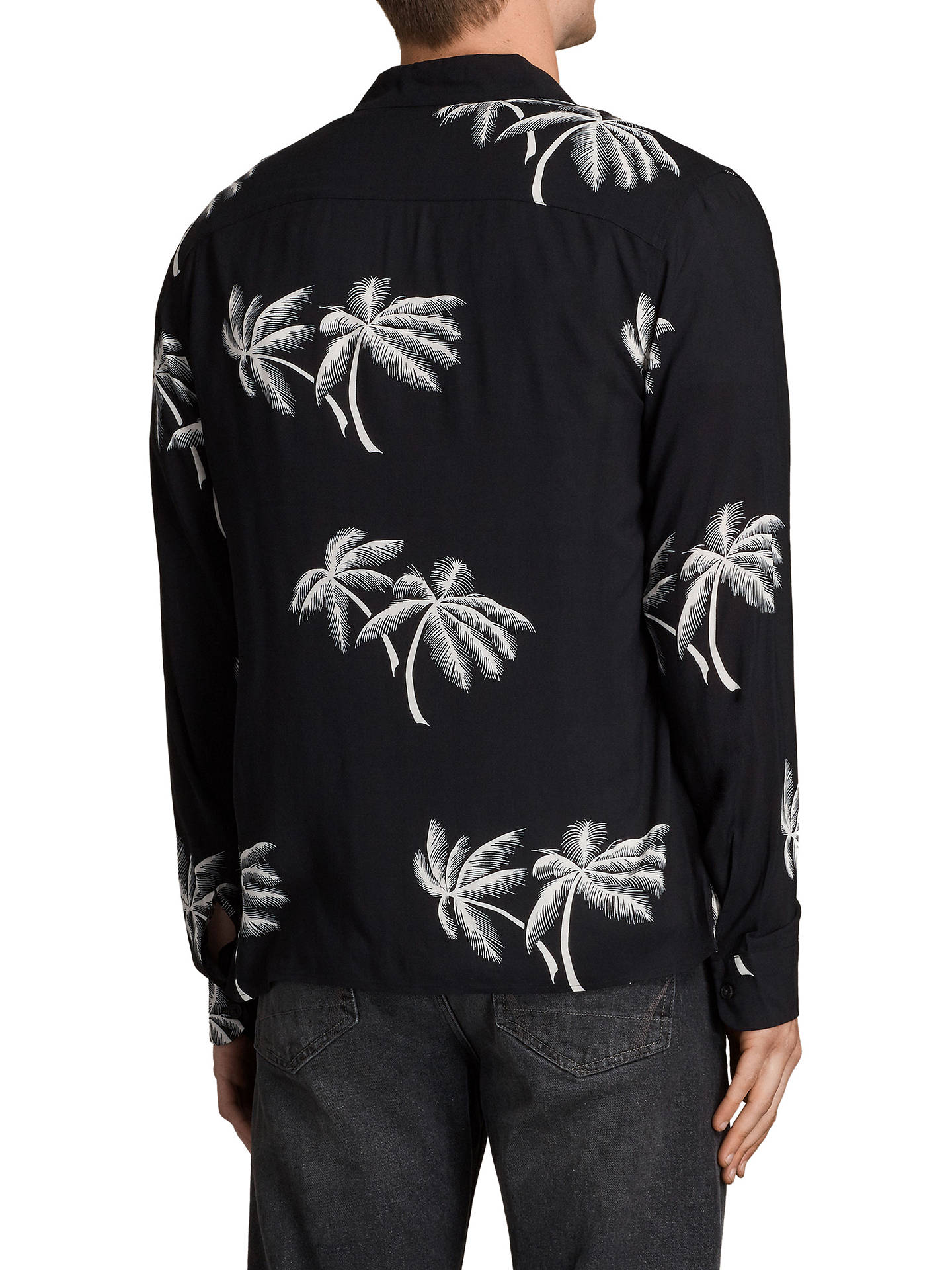 4c85d0ff ... Buy AllSaints Offshore Long Sleeve Shirt, Black, XS Online at  johnlewis.com ...