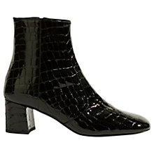 Buy Karen Millen Block Heeled Ankle Boots, Black Online at johnlewis.com