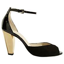 Buy Karen Millen Cone Heeled Sandals, Black Online at johnlewis.com
