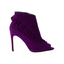 Buy Karen Millen Frill Stiletto Heeled Shoe Boots Online at johnlewis.com