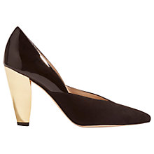 Buy Karen Millen Collection Hammered Heel Court Shoes, Black Online at johnlewis.com