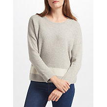 Buy Collection WEEKEND by John Lewis Cashmere Texture Block Jumper, Light Grey Online at johnlewis.com