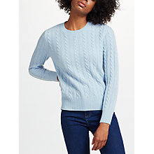 Buy Collection WEEKEND by John Lewis Cashmere Cable Jumper Online at johnlewis.com