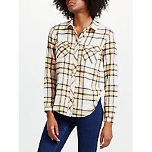 Buy Collection WEEKEND by John Lewis Jessa Check Shirt, Pink/Yellow Online at johnlewis.com