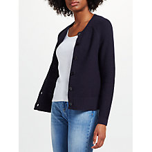 Buy Collection WEEKEND by John Lewis Cotton Crew Cardigan, Navy Online at johnlewis.com