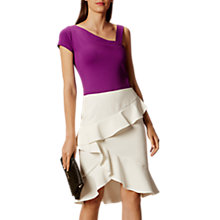 Buy Karen Millen Soft Ruffle Pencil Skirt, Neutral Online at johnlewis.com