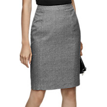 Buy Reiss Hampstead Tailored Pencil Skirt, Black/White Online at johnlewis.com