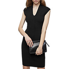 Buy Reiss Jasmine Stitch Detail Dress, Black Online at johnlewis.com