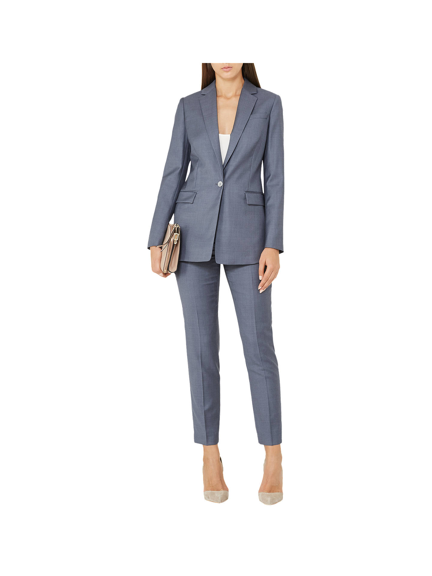 BuyReiss Leyton Tailored Trousers, Blue, 6 Online at johnlewis.com