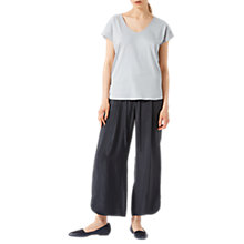 Buy Jigsaw Silk Roll Sleeve Top Online at johnlewis.com