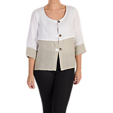 Buy Chesca Colour Block Linen Jacket, Multi Online at johnlewis.com