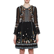 Buy French Connection Bijou Stitch Dress, Black/Multi Online at johnlewis.com