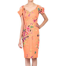 Buy Jolie Moi Floral Print Structured Dress, Coral Online at johnlewis.com