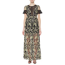 Buy French Connection Joyce Lace Maxi Dress, Ink Green Online at johnlewis.com