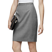 Buy Reiss Austin Tailored Pencil Skirt, Grey Online at johnlewis.com
