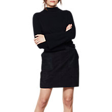 Buy Mint Velvet Croc Patch Pocket Skirt, Dark Blue Online at johnlewis.com