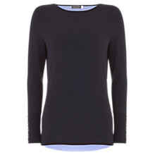 Buy Mint Velvet Hook and Eye Layered Jumper, Dark Blue Online at johnlewis.com