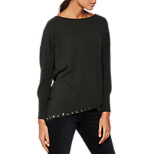 Buy Mint Velvet Curved Hem Stud Knit Jumper, Dark Green Online at johnlewis.com