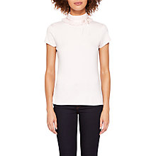 Buy Ted Baker Ruffle Neck T-Shirt, Nude Pink Online at johnlewis.com