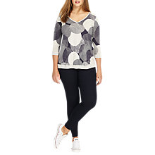 Buy Studio 8 Sally Spot V Neck Jumper, White/Ink Online at johnlewis.com
