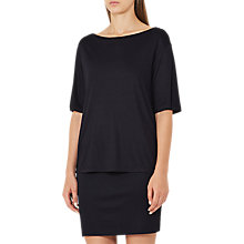 Buy Reiss Lorni Jersey Tie Dress, Night Navy Online at johnlewis.com