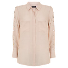 Buy Mint Velvet Champagne Button Shirt, Neutral Online at johnlewis.com
