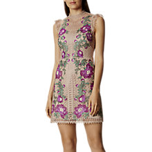 Buy Karen Millen Coated Floral Embroidery Dress, Multi Online at johnlewis.com