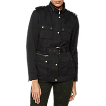 Buy Mint Velvet Belted Jacket, Black Online at johnlewis.com