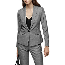 Buy Reiss Hampstead Single Breasted Blazer, Black/White Online at johnlewis.com
