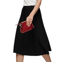 Buy Reiss Loretta A-Line Knitted Skirt, Black Online at johnlewis.com
