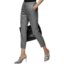 Buy Reiss Hampstead Tailored Trousers, Black/White Online at johnlewis.com