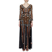 Buy French Connection Bijou Stitch Maxi Dress, Black/Multi Online at johnlewis.com