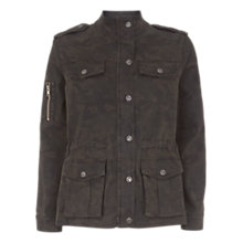 Buy Mint Velvet Camouflage Four Pocket Jacket, Khaki/Multi Online at johnlewis.com