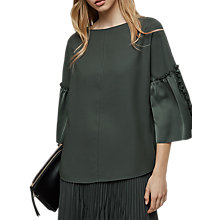 Buy Reiss Joss Ruched Sleeve Detail Top Online at johnlewis.com