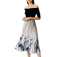Buy Coast Mirabeau Pleated Midi Dress Short, Multi Online at johnlewis.com
