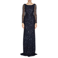 Buy French Connection Helen Sparkle Maxi Dress, Nocturnal Online at johnlewis.com