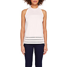 Buy Ted Baker Georji Ottoman Knitted Top, Pink Online at johnlewis.com