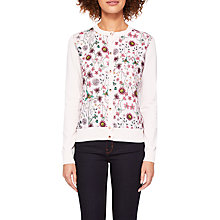 Buy Ted Baker Cler Unity Floral Cardigan, Pink Online at johnlewis.com