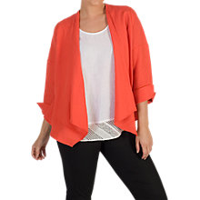Buy Chesca Button Trim Linen Jacket, Coral Online at johnlewis.com