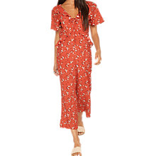 Buy Miss Selfridge Petite Culotte Jumpsuit, Red Online at johnlewis.com