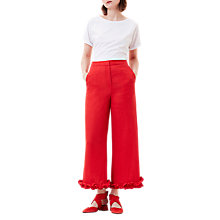 Buy Finery Venice Frill Voile Trouser, Red Online at johnlewis.com