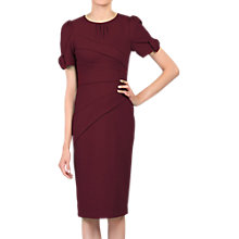 Buy Jolie Moi Bow Detail Bodycon Dress, Deep Red Online at johnlewis.com