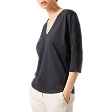 Buy Jigsaw Long Sleeve Silk Roll T-Shirt Online at johnlewis.com