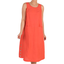 Buy Chesca Button Trim Linen Dress, Orange Online at johnlewis.com