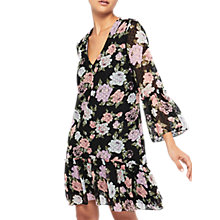 Buy Miss Selfridge Printed Peplum Hem Dress, Multi Online at johnlewis.com