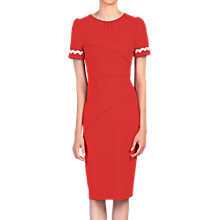 Buy Jolie Moi Lace Trimmed Fold Detail Dress, Orange Online at johnlewis.com