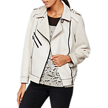Buy Mint Velvet Faux Suede Biker Jacket Online at johnlewis.com
